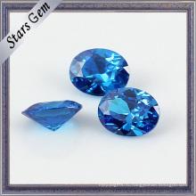 Ровный цвет, 10x12mm большой размер синий превосходной огранки цирконий