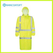 Hooded Relfective Nylon Oxford Police Raincoat (RPY-056)