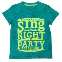 Camiseta de niños para el verano en la venta caliente, camiseta del niño, desgaste de los niños Popular