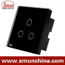Interruptor de pared del toque 3 de la cuadrilla Bs, zócalo de pared teledirigido 1500W 110-220V 16A
