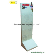1PC / CTN Karton Display, Wellpappe Display, Papier-Display-Ständer, Karton Boden Display, Haken POS-Display, Pegboard Display (B & C-B028)