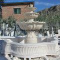 Fuente de agua de escultura de piedra beige (SY-F002)