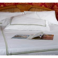 O estilo branco de Oxford do algodão da fronha do bordado da venda de maioria bordou fronhas