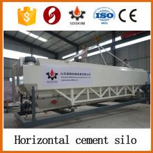 Silo à ciment horizontal à haute performance et 20-30 tonnes, silo de ciment mobile