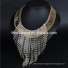 Tassel diamond necklace Beautiful female alloy cross cross necklace for women
