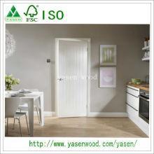 Porta de madeira branca da alta qualidade do MDF da primeira demão