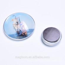 wholesale sailing ship crystal glass fridge magnets for tourist souvenir gifts