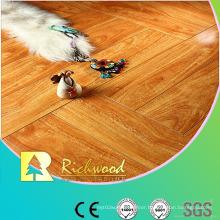 12.3mm Mirror Walnut Water Resistant V-Grooved Laminated Floor
