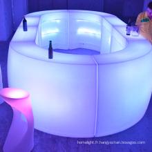 IR télécommande imperméable à l'eau conduit bar table mobilier éclairage Flash décoration changement de couleur de RVB