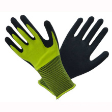 Yellow 10t Fluorescence Latex Coated Gloves