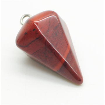 6 side coin Shape Red Jasper pendant