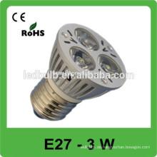 E27 führte Glühbirne Aluminium 3w LED Glühbirne LED Spot Licht