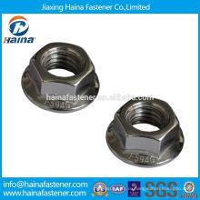 Китайский производитель в запасе Нержавеющая сталь A2 шестигранная гайка DIN6923