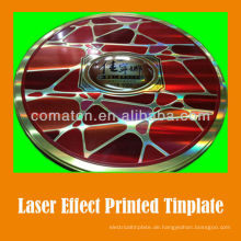 JIS G3003 Laser Effekt gedruckten Weißblech Blatt für Phantasie kann Produktion