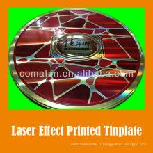 Feuille de fer-blanc imprimé effet JIS G3003 Laser pour la production de fantaisie peut