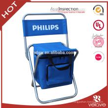 Uso general de muebles al aire libre y sí Silla plegable doblada con un bolso más fresco