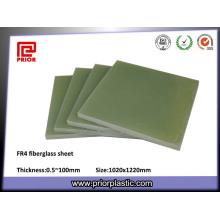 Folhas da fibra de vidro do material de isolação Fr4