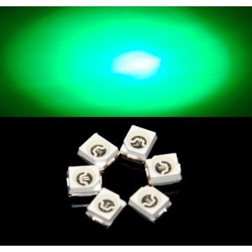 Chip Epistar LED SMD verde 3528 súper brillante