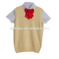 T shirt with knitted top school uniform wholesale for kids