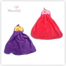 Vente en gros cadeau de promotion de cuisine suspendus serviette de main en molleton de corail carton