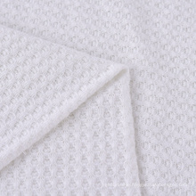 High Quality Custom Stretch Polyester Viscose Knitted Recycled Waffle Fabric for Cardigan