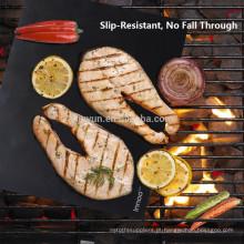 """BBQ Grill Mats -100% Antiaderente, fácil de limpar e reutilizável - 15,75 x 13 """"- (Conjunto de 2)"""