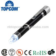 Multi, ferramenta, conduzido, caneta, clip