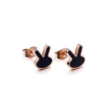 Boucles d'oreilles mignonnes en acier inoxydable de mode chirurgicale