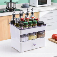 Plastic Multifunction Condiment Storage Box For Kitchen