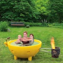 Горячая ванна с горячей водой для барбекю