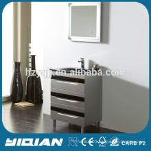 Floor Design Modern Plastic Waterproof Bathroom Furniture with Mirror