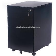 STEELART mobile file cabinet legal letter size in black color