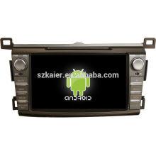 "8 ""android tablet doble din coche reproductor de dvd para 2014 toyota RAV4 + doble núcleo + OEM + fábrica"