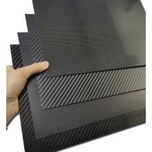 Feuilles de panneau de plaque en fibre de carbone véritable 3K