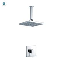 KI-10 professional single handle bathroom hardware accessories chrome plated solid copper rainfall shower head
