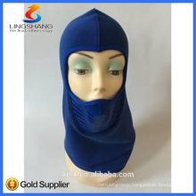 NINGBO LINGSHANG design your own high quality double layer thermal polar knitted custom balaclava fleece mask for neck warmer