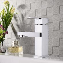 Robinet mitigeur de lavabo de salle de bains en laiton massif à une poignée en laiton massif