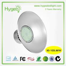 Garantie de 3 ans 50W Industrie LED haute lumière de baie Lampes commerciales à LED haut de gamme