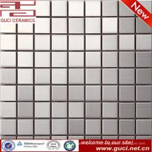 Fuente de la fábrica de foshan Azulejo de mosaico cuadrado de acero inoxidable mezclado