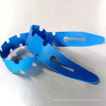 Garrot à usage unique bleu Fishbone 25 * 400 * 0.635MM