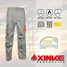 NFPA2112 certificate cotton nylon flame prevention trousers for working