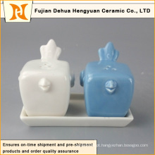 Novo projeto Hot Sale cerâmica pássaro sal e pimenta Shakers Factory direto China