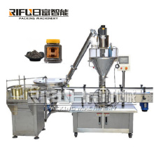 Tin Aluminum Can Auger Cup Automatic Curry sesame Notoginseng powder Bottle Filling Machines For Food for Manufacturing Plant