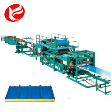 Waterproof eps roof sandwich panel forming machinery