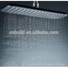 Tête de douche de salle de bains de pluie d'économie d'eau montée par plafond ultra mince d'acier inoxydable