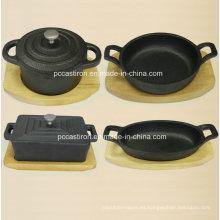 Presa de hierro fundido Mini Server Pot China Factory