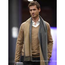 fasion design luxe, écharpe tricotée 100% pure en cachemire