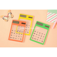 Promotionnelle Ultra mince Mini calculatrice solaire
