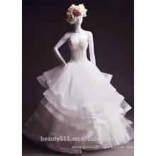 Astergarde mermaid ruffle Robe de mariée sans bretelles Fan plis Court train robe de mariée TS146