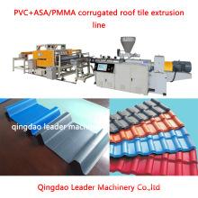 Máquina extrusora de tejas de techo esmaltado de lámina corrugada de PVC + Asa